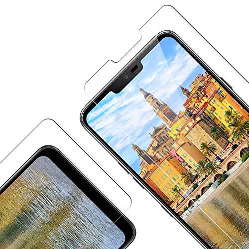 Vkaiy Protector de Pantalla para LG G7 ThinQ, [Compatible con Carcasa][9H Dureza] [Alta Definicion] [Sin Burbujas] [Anti-Arañazos] Cristal Templado Premium para LG G7 ThinQ, 2 Unidades