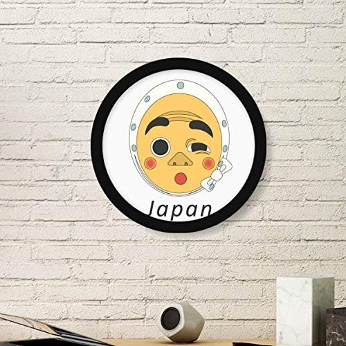 DIYthinker Traditionele Japanse Grappige Man Masker Rond Beeld Frame Kunst Prints Van Schilderijen Thuis Muursticker Gift