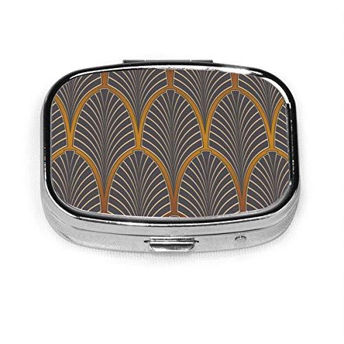 Art Nouveau - Pastillero cuadrado para tableta, organizador de bolsillo