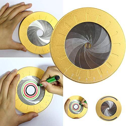 SFASTER Cirkel Maker, Aluminium Tekening Cirkels Geometrische Tool - 5 Verstelbare Diameter Circulaire Tekening Stencil 360 Graden Ring Liniaal Sjablonen Tool