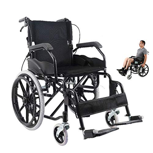 Rollstuhl Faltbar,Kohlenstoffstahl hohe tragfähigkeit Erwachsene Rollstühle,Rollator Faltbar Leichtgewicht,B
