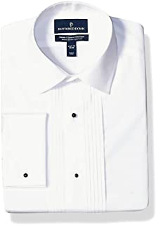 Amazon Brand - Buttoned Down Men's Classic Fit Bib-Front Tuxedo Shirt, Supima Cotton Easy Care, Spread-Collar