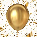 5 Pack Metallic Gold Party Balloons 18 inch, Premium Thick Shiny Chrome Gold Latex Birthday Balloon for Wedding Engagement Baby Shower Graduation Family Anniversary Party Decorations