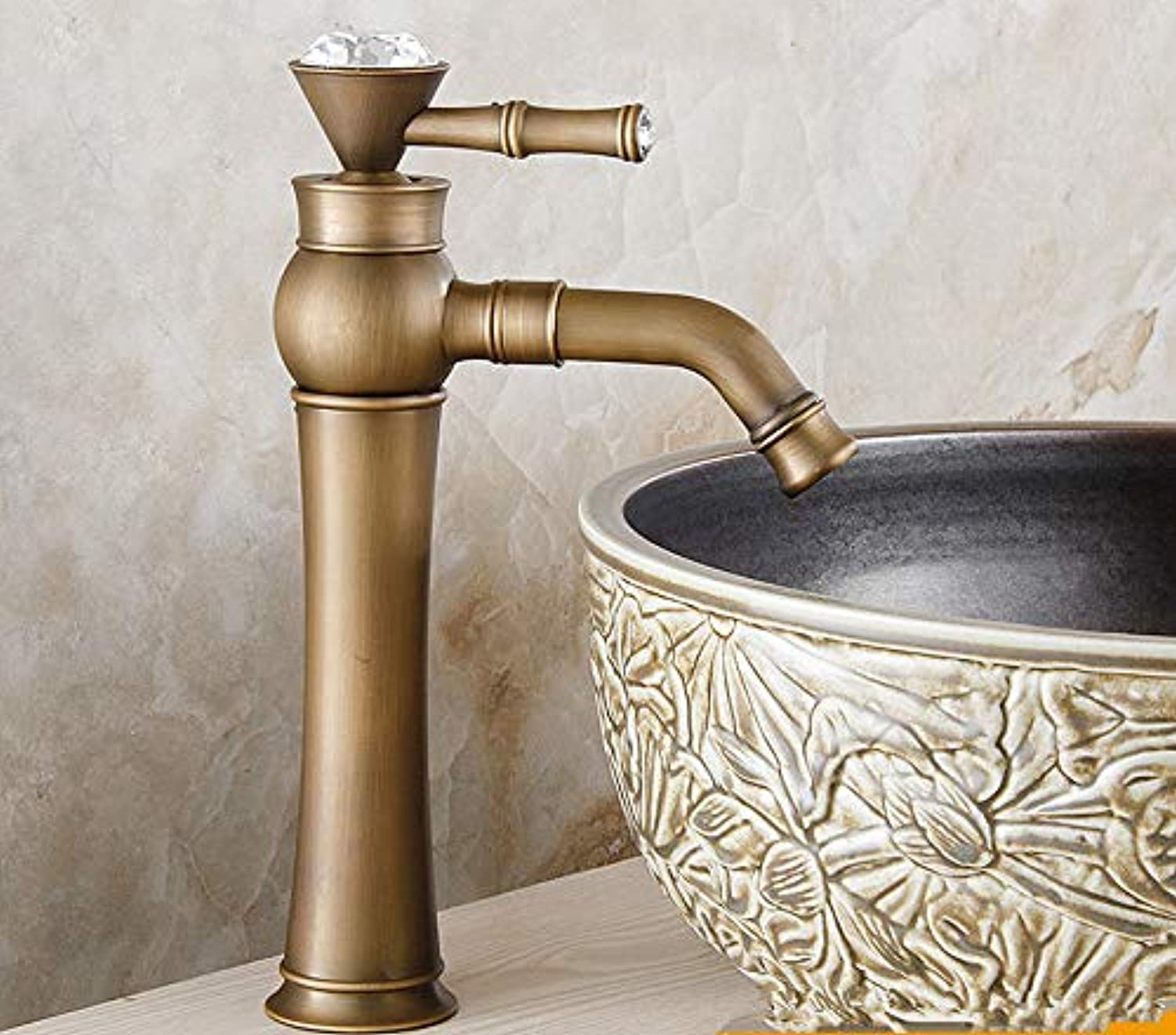 XPYFaucet Faucet Tap Taps All-copper European redating basin retro hot and cold water antique color heightening