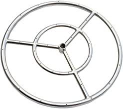Onlyfire 12-Inch Stainless Steel Round Fire Pit Burner Ring, Double Ring