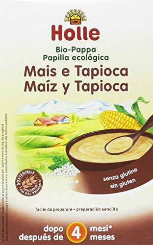 Holle Papilla de Maíz con Tapioca (+4 meses) SIN GLUTEN - Paquete de 6 x 250 gr - Total: 1500 gr