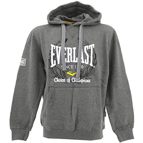 Everlast, OTH, Herren Herren Hoodie Sweatshirt Kapuzensweater Sweaterstrick Angerauht Graphitgrau S [22536]