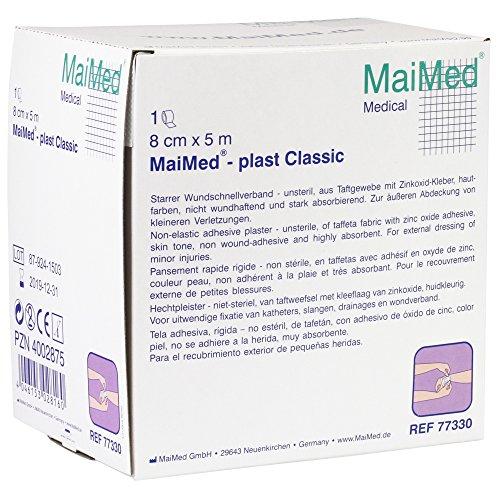 MaiMed plast Classic starrer Wundschnellverband in 3 Größen, Größen:8 cm x 5 m