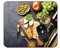 マウスパッドボトルチーズグレープワインマウスマット