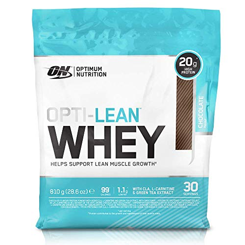 Optimum Nutrition Opti-Lean Diet Whey Protein Powder with CLA and L-Carnitine. Low Fat Protein Shake by ON - Chocolate, 30 Servings, 810g