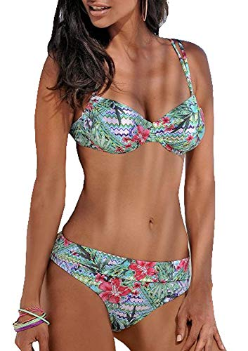 Sunseeker Damen Bügel Bikini (Grün, 40C)