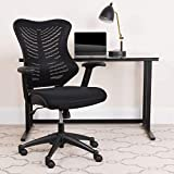 Flash Furniture High Back Designer Black Mesh Executive Swivel Ergonomic Office Chair with Adjustable Arms, BIFMA Certified