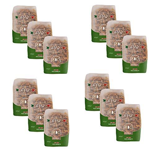 Lot 12x Pâtes blé complet Fusilli n°36 BIO - 1881 Pasta Berruto - paquet 500g