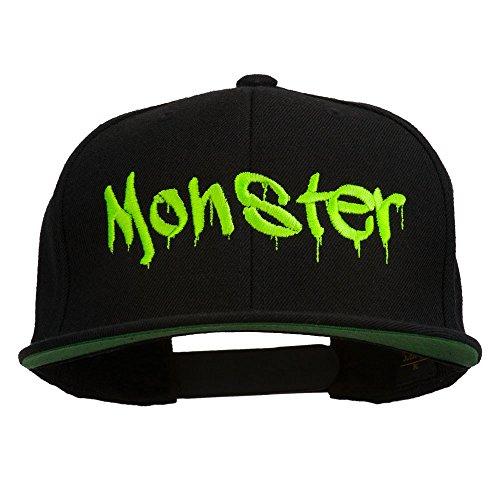 e4Hats.com Halloween Monster Embroidered Snapback Cap - Black OSFM
