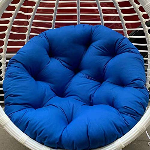 Swing Chair Cushion,Hanging Hammock Round Swing Seat Cushioning Without Stand Thick Nest Chair Back with Pillow Removable Gray 110x110cm,Chair Pads