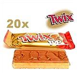 TWIX TOP TABLETAS DE CHOCOLATE Y CARAMELO X 20 PZS