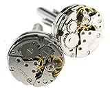 Montre ronde mouvement boutons de manchette horlogerie Équipement hommes Cadeau de mariage vintage