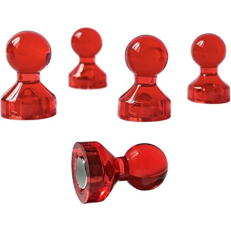 Carmel /& Maroon Push Pins or Magnets Set in Red