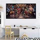 Mode Leinwand Malerei Marvel Poster Superhelden Ölgemälde