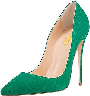 b1b6b61c75e7 FSJ Women Sexy Suede Pointed Toe Pumps 12 cm High Heels Stilettos Prom Shoes  Size 4