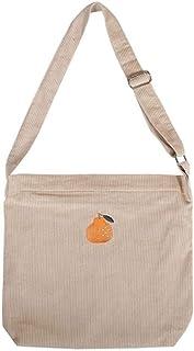 LHKFNU Large Capacity Corduroy Shoulder Bag Women Travel Tote Handbag Casual Crossbody Bag