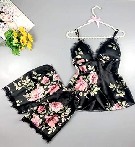 BAKND Panties & Hipsters voor dames erotische nachthemden voor vrouwen sexy lingerie sexy comfortabele zijdepyjama's dames print tweedelig pak
