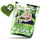 Premium Rasensamen schnellkeimend 2,5kg = 75-100m² Rasen | dürreresistent, robust, tiefgrün, Ideal sowohl für Neuansaat und Nachsaat, Rasensaat Grassamen