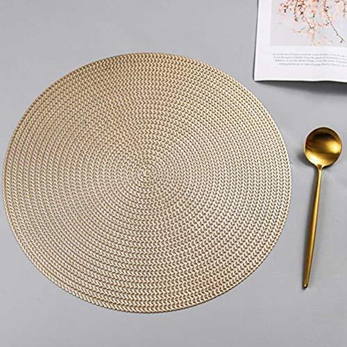 ADSIKOOJF 38cm Placemat Voor Eettafel Matten Pvc Plastic Holle Isolatie Ronde Coaster Pads Tafel Bowl Matten