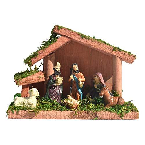 Adornos de resina de Pascua, cristiano Jesús escena resurrección Natividad Pascua cumpleaños escena artesanía regalos decoración del hogar