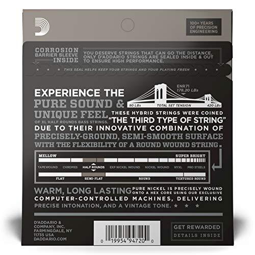 D'Addarioダダリオベース弦ハーフラウンド/ピュアニッケルLongScale.045-.100ENR71【国内正規品】