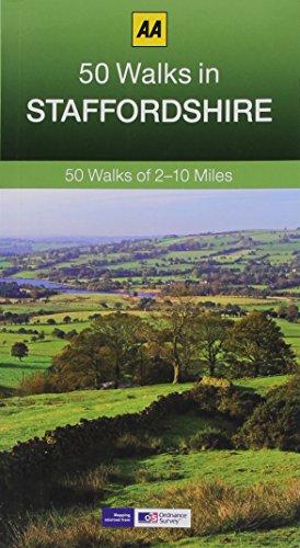 50 Walks in Staffordshire (AA 50 Walks) [Idioma Inglés]: 50 Walks of 2-10 Miles