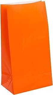Orange Paper Goody Bags - Orange Treat Sacks