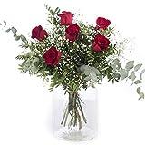 Ramo 6 Rosas Rojas   ENTREGA GRATIS 24 HORAS   Flores Naturales a Domicilio Blossom®   Ramo de Rosas Naturales a Domicilio   Flores Frescas y Recién Cortadas