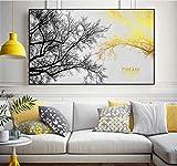 YuanMinglu Nordic minimalistischen dekorativen Druck Landschaft Tuch abstrakte Wand Wohnzimmer Dekoration rahmenlose 60x80cm
