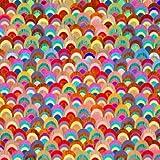 3 Wishes Regenbogen-Stoff, 3 WISH43, 0,5 m, 100% Baumwolle