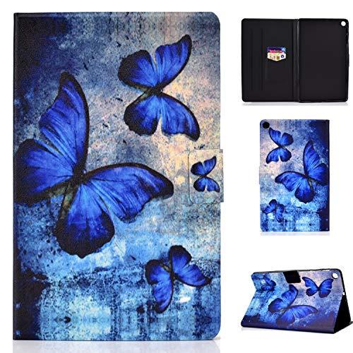 Auslbin - Cover per Samsung Galaxy Tab S6 Lite 10.4' SM-P610/SM-P615 2020,Ultra Slim in pelle PU Case con Funzione Stand,Auto Sonno/Sveglia Funzione,Retro Farfalla