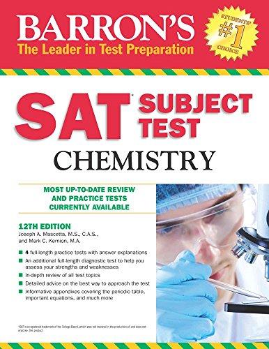Sat Subject Test, Chemistry (Barron's Sat Subject Test Chemistry)