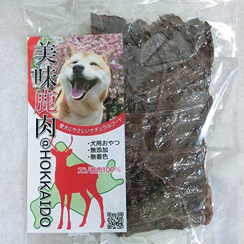 美味鹿肉 犬用エゾ鹿ジャーキー (65g)丁寧に薄くスライスしたジャーキー 老犬 お口の小さな子に