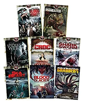8 Maneater Movie Collection in DVD - Blood Monkey / Maneater / In Spider s Web / Croc / Sea Beast / Shark Swarm / Grabbers / Blood Glacier