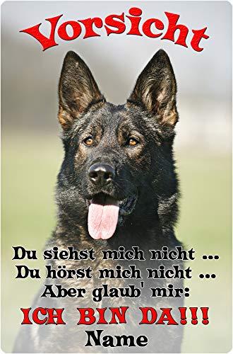 Nanyuk Deutscher SCHÄFERHUND - Metall Warnschild Schild Hundeschild Sign - DSH 40 T2 P