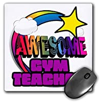 3dRose Mouse Pad Shooting Star Rainbow Awesome Gym Teacher - 8 by 8-Inches (mp_201320_1) [並行輸入品]