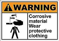 インチ、ドアの装飾品腐食性材料摩耗保護警告壁サインおかしい鉄の絵ヴィンテージ金属プラーク装飾警告サイン吊りアートワークポスター用バーパーク