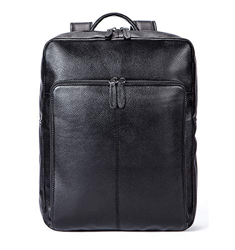 Men's Leather Backpack for Laptops, Travel Backpack, Waterproof Vintage Men's Work Bag for Laptops, 15 Inches, Colour, black-Onesize
