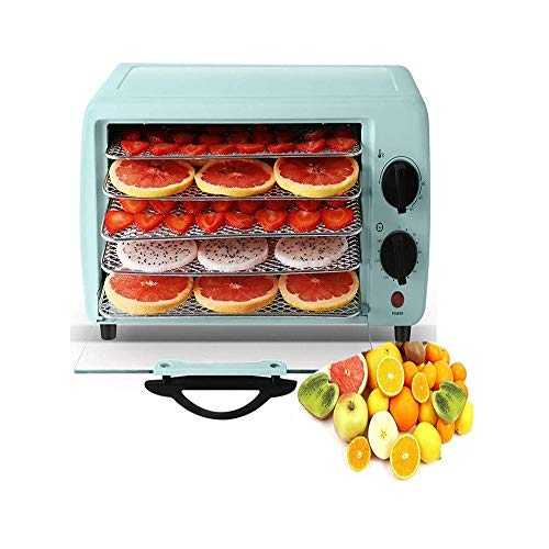 Great Features Of Yalztc-zyq16 Desktop Food Dehydrator - 5 Drying Racks with Double Knob Operation -...