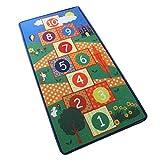 Ritapreaty Kinderteppich, Rutschfester Teppich Hopscotch Jump Lattice für Kinderzimmer 55.12 x 27.56 Zoll