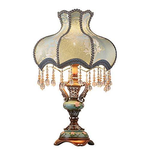 LIUXING-Home Bedside table artwork Bedroom American Retro Simple Modern Night Light European Bedside Lamp Warm Table Lamp Retro table lamp (Color : Dimming, Size : 40x68cm)
