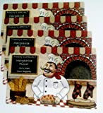 Fat Chef Today's Special Pizza Bread Plastic Placemats - 4 Pieces