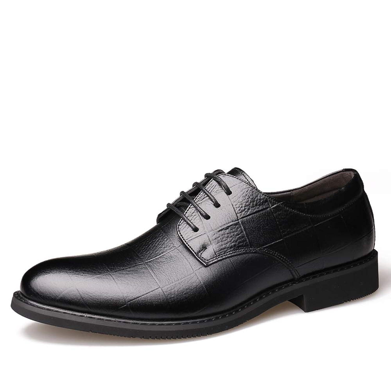 [Fearlesser] 革靴 ビジネスシューズ メンズ 外羽根 本革 プレーントゥ レースアップシューズ 紳士靴 通勤 営業マン 冠婚葬祭 防滑 通気性
