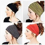 Women's Headband for Yoga Sport Athletic Headband for Running Travel Fitness Elastic Headscarf