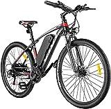 VIVI E Bike Herren Damen, 27,5 Zoll Elektrofahrrad, E-Mountainbike mit Abnehmbarer 36V/48V 10,4 Ah Lithium-Ionen-Batterie, Shimano 21-Gang-Getriebe